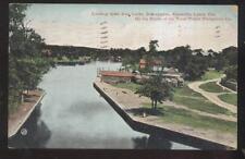Postcard BOBCAYGEON Ontario/CANADA  Kawatha Lakes Canal Locks Aerial view 1907