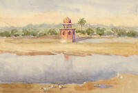 Mid 20th Century Watercolour - Middle Eastern Landscape View