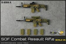 Toys City-62014A 1:6 Scale SOF Combat Assault Rifle Set in Tan for Action Figure