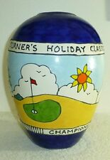 Curras Brothers Signed And Dated Vase Championship Trophy For Charity Golf Event