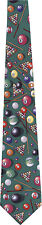 POOL BALLS CUES AND RACKS 100% SILK NEW NOVELTY TIE
