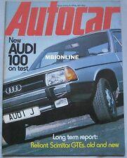 Autocar 16/4/1977 featuring Audi, Reliant Scimitar GTE, Alfa Romeo, Mercedes