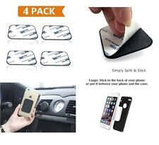 Metal Plate 4-Pack with 3M Adhesive for Magnetic Phone Mounts