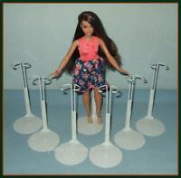 """6 Kaiser Doll Stands for NEW Curvy Body Barbie FASHIONISTA 12"""" SHIRLEY TEMPLE"""