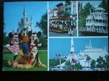 POSTCARD USA WALT DISNEY THE MAGIC KINGDOM MULTI VIEW
