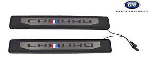 2016-2020 Chevrolet Camaro Coupe Illuminated Door Sill Plate Pkg 84127637 OEM GM