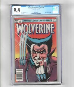 Wolverine limited series issues 1 ,2, 3 and 4 all CGC graded 9.4