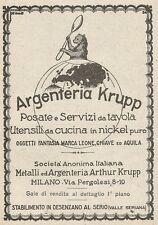 Z2337 Argenteria KRUPP - Posate e servizi da Tavola - Pubblicità 1928 - Advert