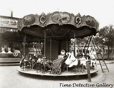 An Antique Carousel - 1923 - Historic Photo Print