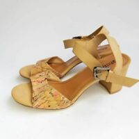 Patrizia by Spring Step Womens Ankle Strap Sandals Brown Buckle 9.5-10 EUR 41