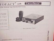 1978 JCPENNEY CB RADIO SERVICE SHOP MANUAL MODEL 981-6204 (981-7461) JC PENNEY