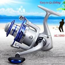 12Ball Bearing Portable Metal Fishing Reel Wheel Kit Set W/Sea Rod AL1000 #D