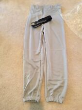 Brand NWT CHAMPRO MENS BASEBALL PANTS Gray Size Adult Small BP3 w/ Free BLK Belt