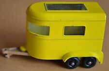 Matchbox Lesney No 43 Yellow Pony Trailer with BROWN Base - Near Mint