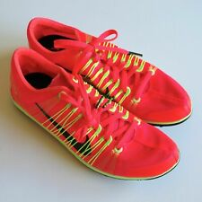 Mens Nike Zoom Victory XC 2 Spikes Running Shoes sz 9 Atomic Red Lime 599211-623