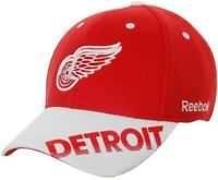 Reebok NHL Detroit Red Wings Center Ice Practice Stretch Hat - Red/White