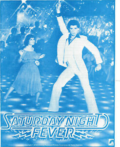 SATURDAY NIGHT FEVER(1977)JOHN TRAVOLTA ORIGINAL HERALD NICE!