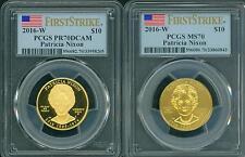 2016-W $10 GOLD SPOUSE PATRICIA PAT NIXON PCGS PR70 PF70 & MS70 First Strike FS