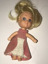 "Vtg Storykins Cinderella 1968 3.5"" Pink Dress Mini Doll Liddle Kiddles Hasbro"