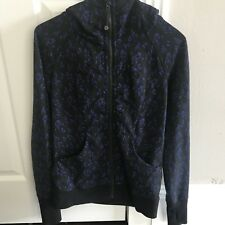 LULULEMON Scuba Hoodie Jacket Sweater Size 4 Black/Blue