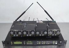 T169464 Telex RadioCom Btr-800 Uhf Wireless Intercom + (4) Tr-825 Beltpack Units