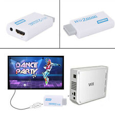 Wii to HDMI Converter Output HDTV Upscaling Video Audio Adapter 720P 1080P 3.5mm