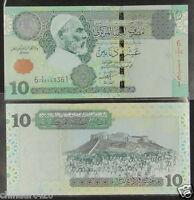 Libya 10 Dinars Banknote 2004 UNC