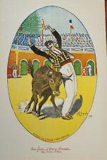 AFFICHE course Landaise/Tauromachie -1926 -  Cel le Gaucher - H. meunier/arenes