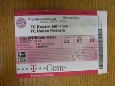 2004/2005 Ticket: Bayern Munich v Hansa Rostock  (small tear at top, light creas