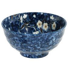 """2 PCS. Japanese 6.75""""D Ceramic Sakura Flower Udon Noodle Soup Bowl Made in Japan"""