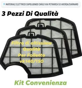 FILTRO FOLLETTO Griglia Motore Protezione Adatto Vorwerk FOLLETTO Vk140 150 3PZ