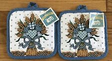 New listing Country Store Wheat Heart Pot Holders Nwt Set Of 2