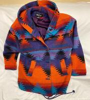Vintage 90s Aztec Navajo Western Duffle Jacket Coat Women's Size Medium