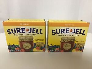 Sure Jell Original Premium Fruit Pectin NEW For Canning Lot of 2 Boxes Fast Ahop