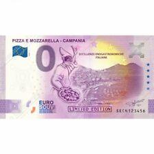 0 € ZERO EURO SOUVENIR BANCONOTA ITALIA 2020 PIZZA MOZZARELLA CAMPANIA ORIGINALE