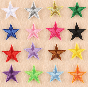 STAR Embroidered Patches Iron on Sew on Stars Patch Applique Transfers Badges