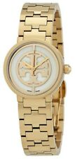 Swiss Made Tory Burch Reva Gold Tone SS Ivory Dial Ladies Watch TRB4011