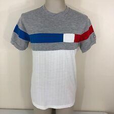 Vintage 80s Wilson Cotton Blend Color Block Red White Blue T Shirt Men's Medium