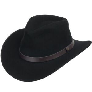 BENTLEY OUTBACK Crushable Outback Wool Hat Fedora