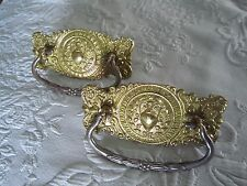 Antique UNIQUE  Drawer Furniture Pull A8887DC Brass Bronze /& Gold Bail /& Ends