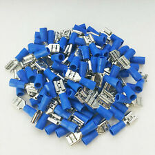 200x Vinyl Female Wire Terminal Blue 16-14 Ga AWG Quick Disconnect Connectors