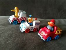 Hasbro,1981,1983 Sesame Street Diecast Vehicles W Burt, Ernie & Big Bird