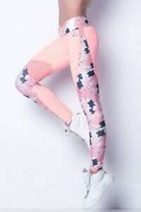 labellamafia  damen Leggins  gr M Camouflage Rose Calça neu mit Etikett