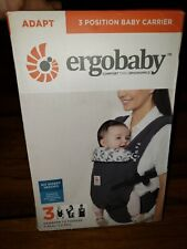ERGO BABY Adapt 3 Position Baby Carrier newborn to toddler Black/ Gray
