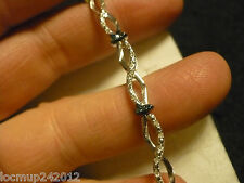 "CLEARANCE* Blue & Wht Diamond Tennis Bracelet 7.75""  79 diamnd .75tcw MSRP$1443"