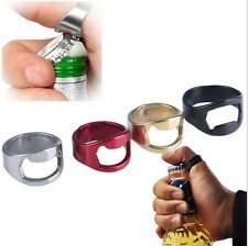 5pcs Mixed RING Beer Bottle Opener Stainless Steel Metal Finger Thumb keyring