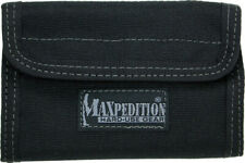 "Maxpedition Spartan Wallet Black 0229B 5 1/2"" x 3 1/2"" x 1/2"" closed. Contains a"
