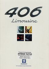 PEUGEOT 406 BERLINA prospetto 4/99 auto PROSPEKT 1999 opuscolo brochure auto