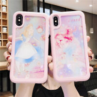 For iPhone 11 Pro XS MAX XR 7 8+ Disney Princess Alice Mermaid splice phone case