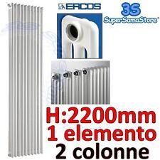 3S CALORIFERO RADIATORE TUBOLARE 2 COLONNE H 2200 mm 1 ELEMENTO COMBY ERCOS NEW